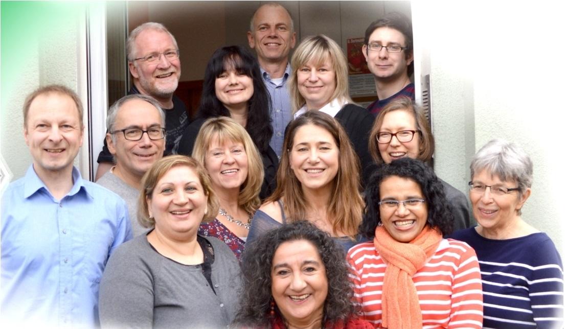 Dozenten und Angestellte der Sprachenschule im Kreuzviertel
